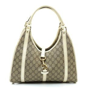 Auth Gucci Hand Bag Brown Coated Canvas #7897G10